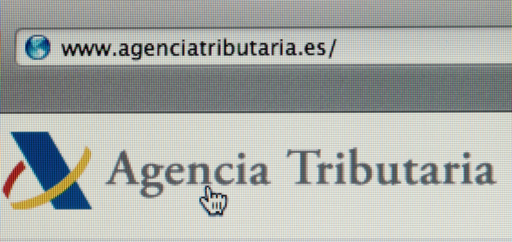 Buscando en la página web de la Agencia TRibutaria española