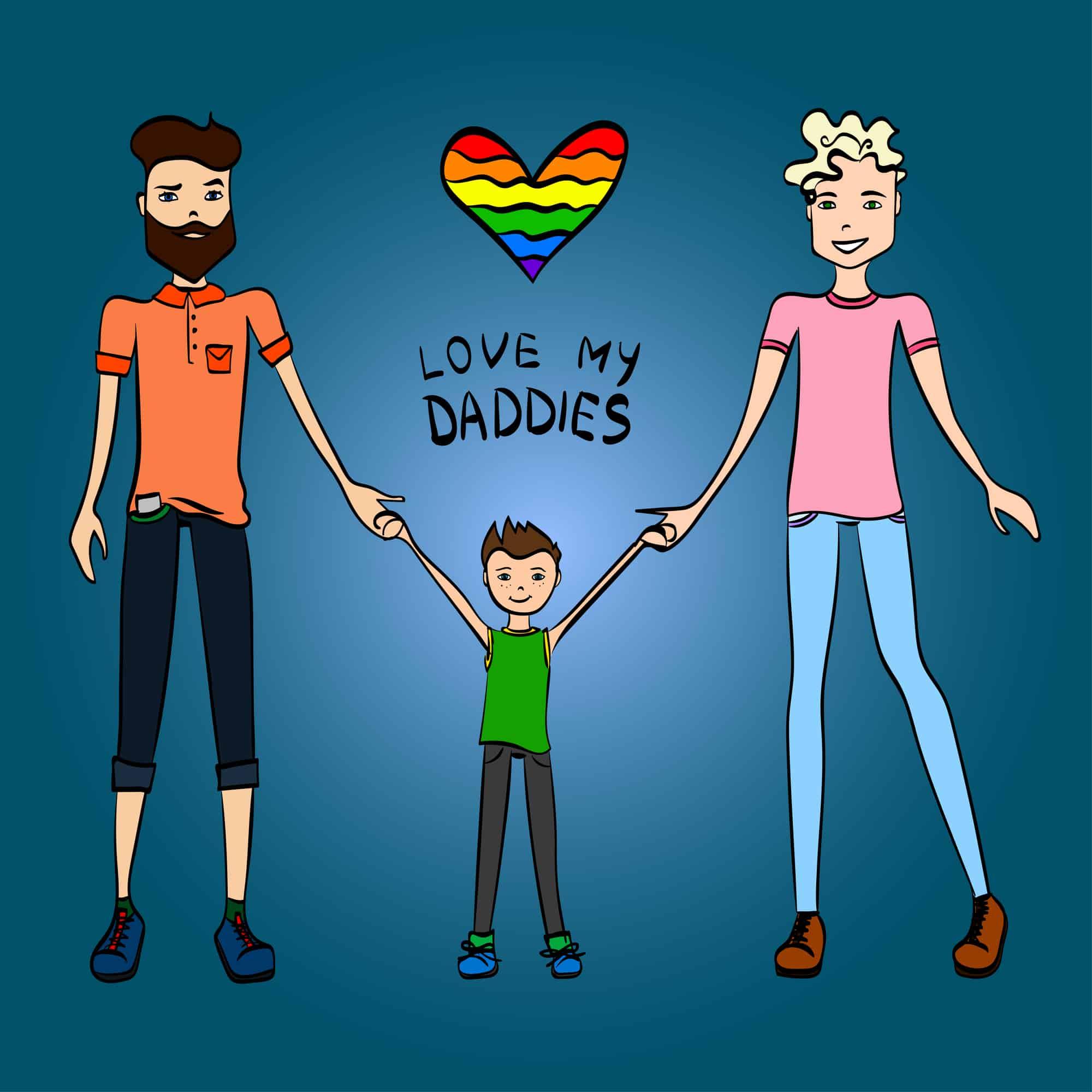 Familia homoparental: dos padres y un hijo