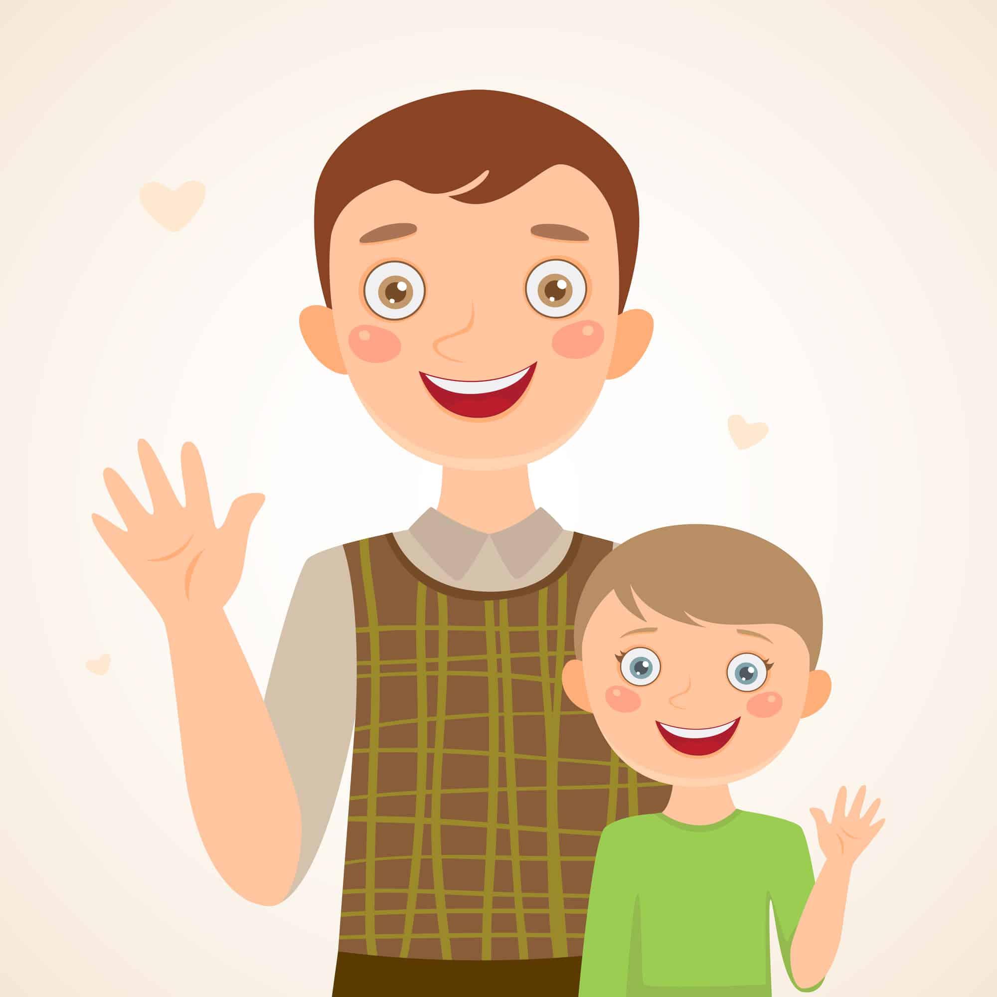 Familia monoparental: padre con hijo